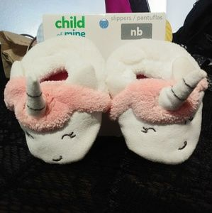 Child Of Mine by Carter's Newborn Unicorn Slippers